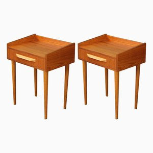 Mid-Century Danish Teak Nightstands, 1950s, Set of 2