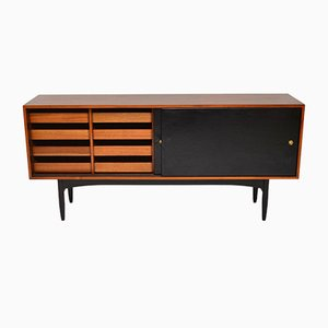 Rosewood & Leather Sideboard by Robin Day for Hille, 1950s