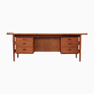 Model 207 Danish Teak Desk by Arne Vodder for Sibast, 1960s