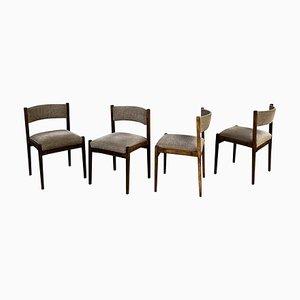 Modell 105 Esszimmerstühle von Gianfranco Frattini für Cassina, 1960er, 4er Set