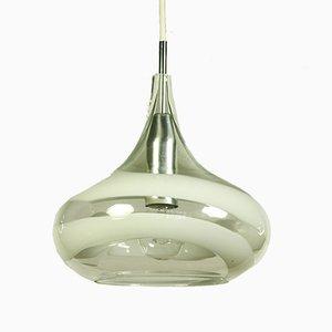 Deutsche Deckenlampe aus Aluminium & Glas von Doria Leuchten, 1970er