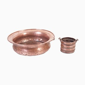 Garden Copper Pitcher & Bowl, 1960s