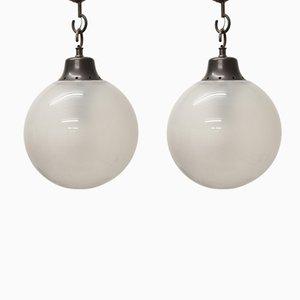 Lámparas de techo Boccia de Luigi Caccia Dominioni para Azucena, años 60. Juego de 2