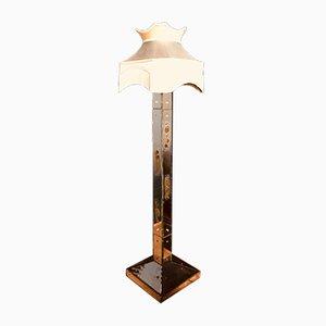 Art Deco Stehlampe mit verspiegeltem Glasfuß, 1920er