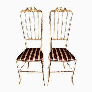 Italian High Back Chiavari Chair, 1950s