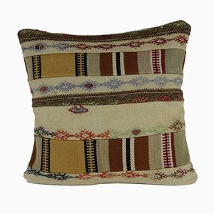 Square Patchwork Kilim Pillow Cover from Vintage Pillow Store Contemporary