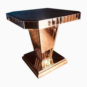 Art Deco Couchtisch aus Glas & Eiche, 1930er