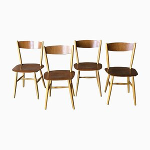 Skandinavische Fanett Esszimmerstühle aus Teakholz von Ilmari Tapiovaara für Edsby Verken, 1961, 4er Set