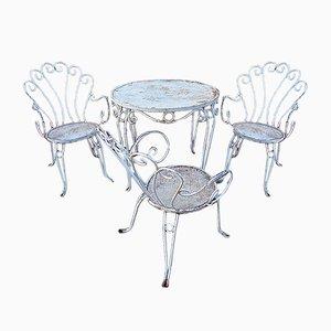 Mid-Century Italian Iron Garden Chairs, 1960s, Set of 4