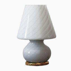 Lámpara hongo italiana Mid-Century de cristal de Murano, años 50
