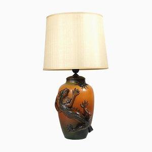 Lámpara de mesa danesa modernista de cerámica de Ipsen, años 20