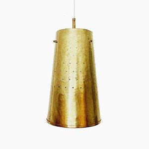 Mid-Century Italian Brass Ceiling Lamps, 1950s, Set of 2