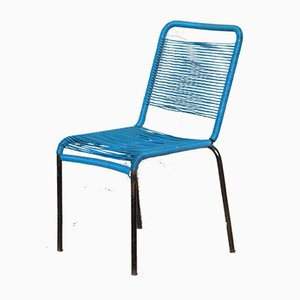 Mid-Century Italian Iron and Plastic Garden Chair, 1950s