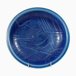 Art Deco Danish Tin Glazed Bowl by Nils Thorsson for Royal Copenhagen, 1920s
