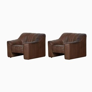 Leather DS44 Living Room Set from de Sede, 1970s, Set of 2