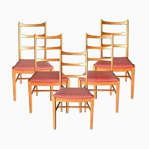 Schwedische Esszimmerstühle aus Teakholz, 1960er, 5er Set