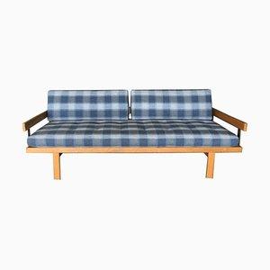 Sofá cama sueco Mid-Century de roble, años 60