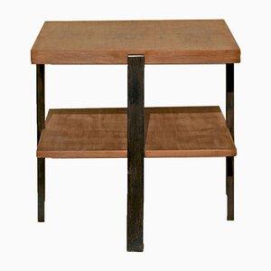 Tavolino da caffè vintage industriale in legno, anni '70