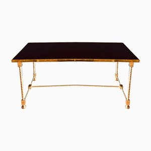 Neo-Classical Brass & Glass Coffee Table from Maison Jansen, 1950s