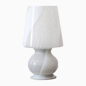 Lampada a fungo in ceramica e vetro colorato di Bae Ceramic, Italia, anni '60