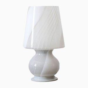 Lámpara italiana de cerámica y vidrio coloreado de Bae Ceramic, años 60