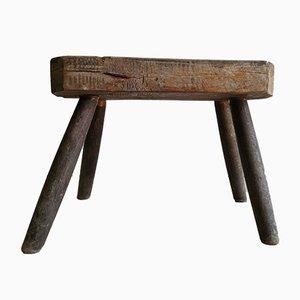 Mesa auxiliar antigua de roble