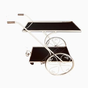 Mid-Century French Brass and Glass Drinks Trolley, 1950s