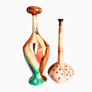 Ceramic Vases by G. Gatti for Ceramica Artistica Lauretana, 1970s, Set of 2