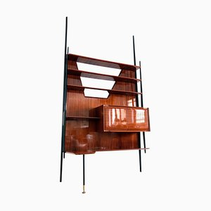 Mid-Century Italian Rosewood Wall Unit by Vittorio Dassi, 1950s