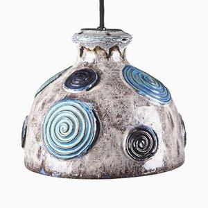 Dänische Deckenlampe aus Keramik von Axella Denmark, 1970er