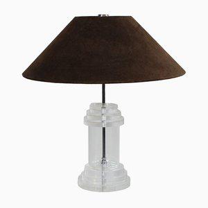 Vintage Regency German Perspex Table Lamp, 1970s