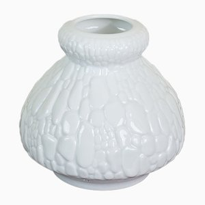 White Op Art Crocodile Vase from AK Kaiser, 1960s