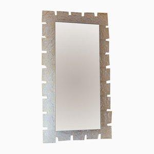 Espejo de cristal de hielo retroiluminado de Hillebrand Lighting, años 70