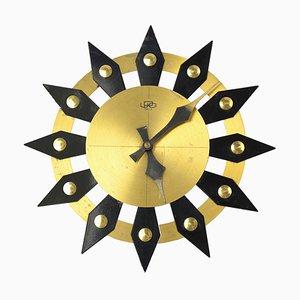 Reloj de pared mecánico de UPG Halle, años 60