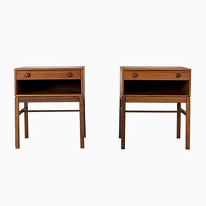 Tables de Chevet en Teck par Sven Engström & Gunnar Myrstrand, 1960s, Set de 2