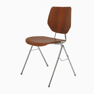 Norwegian Steel and Wood Ero No. 5 Side Chair from Stål & Style, 1962