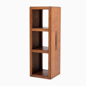 Mesas Pedestal Art Déco de roble y ébano Art Déco de Piet Izeren para De Genneper Molen, años 20. Juego de 2