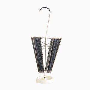 Französischer Mid-Century Schirmständer aus Messing & Gusseisen, 1950er