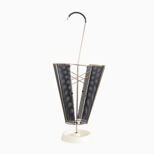 Mid-Century French Brass and Cast Iron Umbrella Stand, 1950s