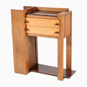 Art Deco Oak and Ebony Hague School Cabinet by H. Kempkes jr for A. Kempkes & Co., 1920s