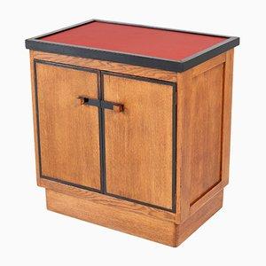 Mueble para el té Escuela de La Haya Art Déco de haya y linóleo de Jan Brunott, años 20