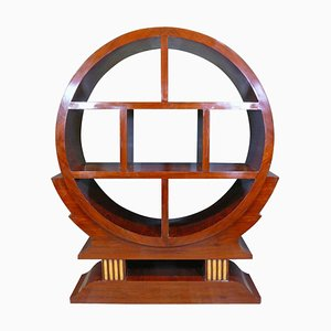 Vintage Art Deco French Palisander Wall Unit, 1930s