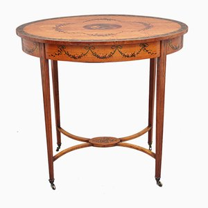 Table d'Appoint Antique en Bois de Satin