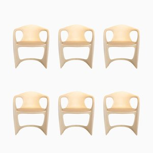 Modernist German Plastic Casalino Armchairs by Alexander Begge for Casala, 1970s, Set of 6