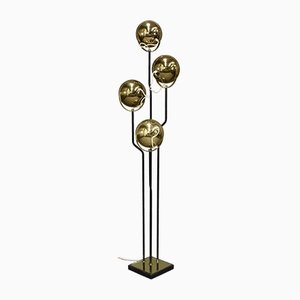 Italian Brass Floor Lamp by Goffredo Reggiani, 1950s