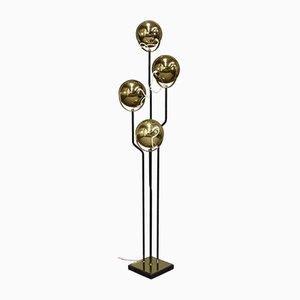 Lámpara de pie italiana de latón de Goffredo Reggiani, años 50