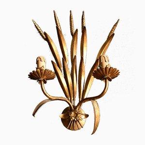 Mid-Century Brass Wheatsheaf Sconce, 1950s
