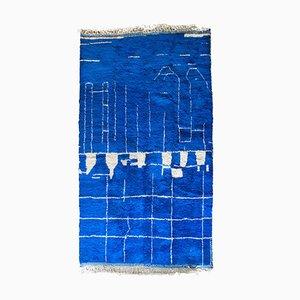 Großer marokkanischer Vintage Teppich mit abstraktem Design