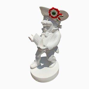Statue Publicitaire Gianduia en Porcelaine de Caffarel, 1950s