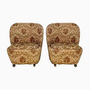 Vintage Club Chairs, 1950s, Set of 2